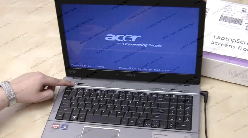 серый экран через некоторое время работы ноутбук асер