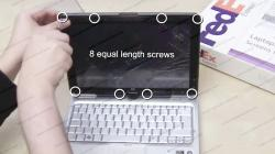 Touch screen repair - how to replace touch screen LCD panel on a tablet PC [HP TX2500]