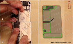 iPhone 4S LCD Screen and Glass Digitizer installation and replacement guide