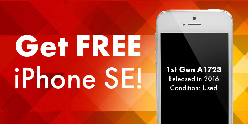 Get free iPhone SE